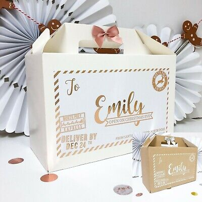 Personalised Christmas Eve Box | North Pole Foil | Xmas Favour Boxes • 5.99£