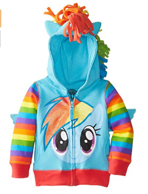 New My Little Pony Hoodie BLUE HOODIE Rainbow Dash 2,3,4,5,6,7 YEARS • 12.99£