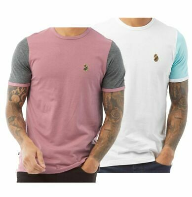 Mens LUKE 1977 Cotton Short Sleeve Top Casual Contrast Tee Sizes From S To XXL • 16.99£