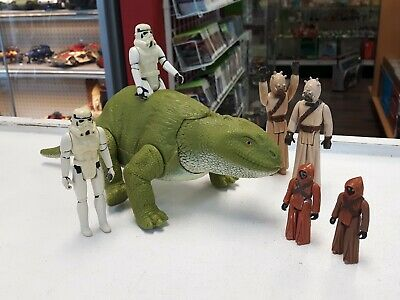 $ CDN74.99 • Buy Star Wars Vintage Tatooine Droid Search Dewback & Figure Lot Stormtrooper Jawa