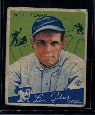 $30 • Buy 1934 Goudey #21 Bill Terry PR LOOK!