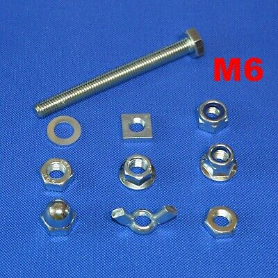 £5.39 • Buy M6 Set Screws Stainless Steel Full Thread Bolts With Nuts And Washers