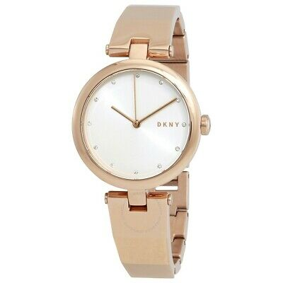 DKNY Eastside Rose Gold Stainless Steel Bracelet Silver Dial Ladies Watch NY2711 • 55.24£