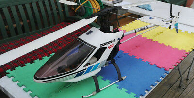 Vintage Kyosho Concept 60 Rc Helicopter  • 425£