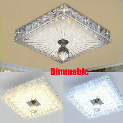 £16.74 • Buy Square Dimmable LED Crystal Ceiling Down Light Panel Wall Kitchen Bathroom Lamp