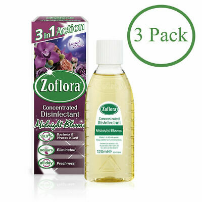 3 X Zoflora Midnight Blooms Disinfectant. Limited Edition. Free P&P. Mrs Hinch • 14.99£