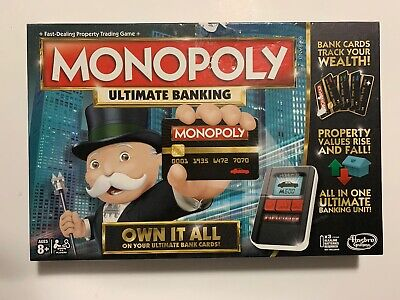 $21 • Buy Hasbro Monopoly Ultimate Banking Board Game Excellent Condition Played Couple