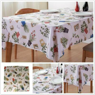 AU16.57 • Buy Dining Table Cover Thick Table Cloth Waterproof Oil Proof Tablecloth New 6N