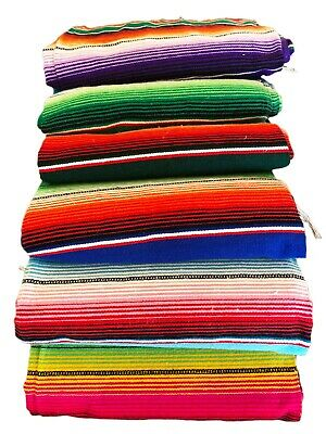 Genuine Authentic Mexican Serape Blanket Rug Picnic Throw Extra Large 5ft X 7ft • 29.99£