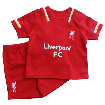 Liverpool Fc Red Home Kit Shirt & Short Set Baby Childrens Clothing All Sizes • 13.39£