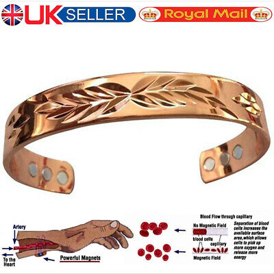 Magnetic Bracelet Ladies Mens Bangle Copper Healing Therapy Arthritis Pain Cuff • 5.49£