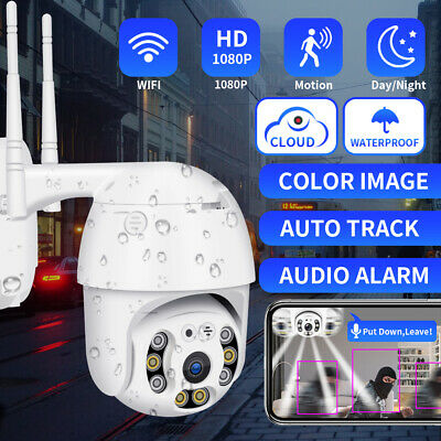 1080P Wireless Wifi IP Camera Dome PTZ Outdoor CCTV Home Security Cam IR 2MP UK • 29.99£