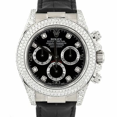 $ CDN28938.54 • Buy Rolex Daytona Cosmograph Black Diamond 18K White Gold Chronograph Watch 116519