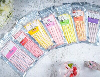 Alcoholic Rock Candy Sticks Lollipops Sweets Gin Gift Hen Party Wedding Favours • 5.99£