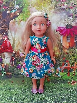 American Girl Our Generation Summer Party Dress+headband 18 Inch Doll Clothes • 6.99£