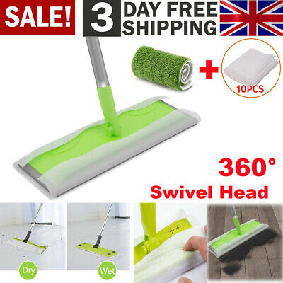 Tile Laminate Wood Static Cleaning Floor Cleaner Mop Sweeper Wet Or Dry Wipes • 8.69£