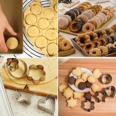 24pcs Stainless Steel Mini Cookie Cutter Set Baking Pastry Cutters Slicers Smoot • 5.69£