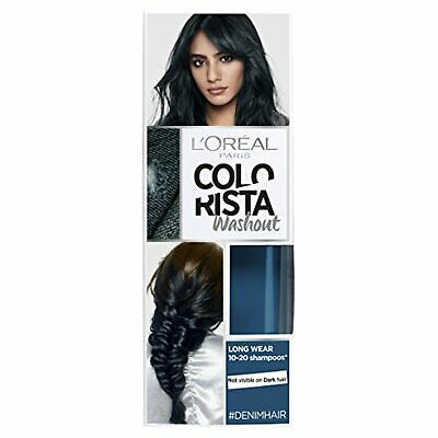 L'Oreal Paris Colorista Washout Denim Blue Semi-Permanent Hair Dye 80ml • 7.99£