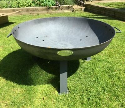 £174.99 • Buy Large Garden Fire Pit Outdoor Patio Camping Cast Iron Bowl Log Burner Heater