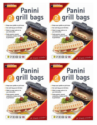 8 X Panini Grill & Griddle Bags Reusable Toasties Toasted Sandwiches • 6.72£