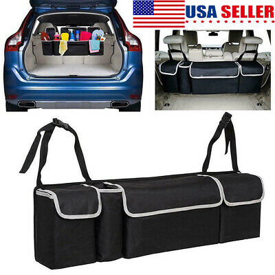 $16.99 • Buy Car Trunk Organizer Car Interior Accessories Back Seat Storage Box Bag Oxford US