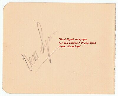£14.99 • Buy Dame Vera Lynn Forces Sweetheart And Vic Oliver  Early Hand Signed Album Page