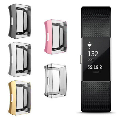 $ CDN4.14 • Buy NE_ Ultra-thin TPU Smart Watch Screen Protector Case Cover For Fitbit Charge 2 C