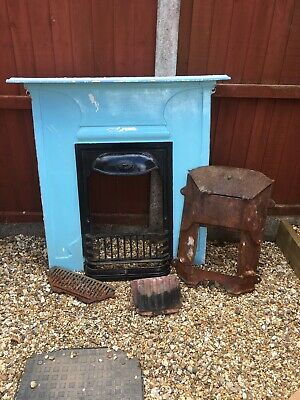 Vintage Victorian Style Cast Iron Fireplace Size Medium Complete • 110£