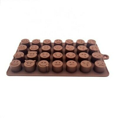 Emoji Silicone Chocolate Mould 28 Cell Candle Wax Melts Candy • 6.50£