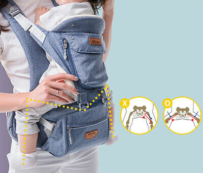 SUNVENO Ergonomic Baby Carrier Infant Baby Hip Seat Waist Carrier Front Facing  • 39.79£