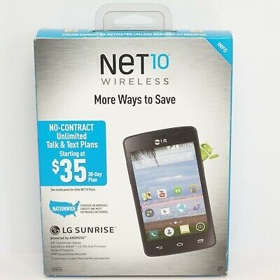 $30.50 • Buy Net 10 Wireless LG Sunrise Prepaid Smart Phone Android Camera MP3 WiFi GSM