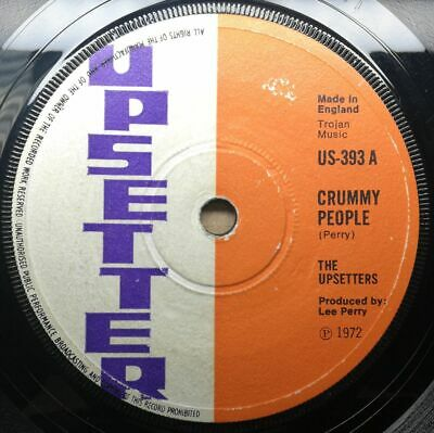 The UPSETTERS  Crummy People  Big Youth 1972 Skinhead Reggae Dub Vinyl 45 Mp3 • 24£