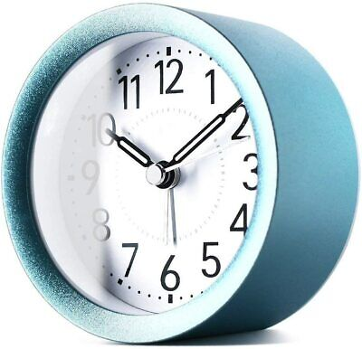 AU48.43 • Buy 4 Inch Round | Silent Sweep Analog Alarm Clock Non Ticking, Gentle Wake