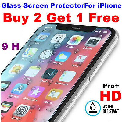 Tempered Glass Screen Protector For IPhone 6s 7 7s 8 Plus X XR XS 11 Pro Max D02 • 1.51£