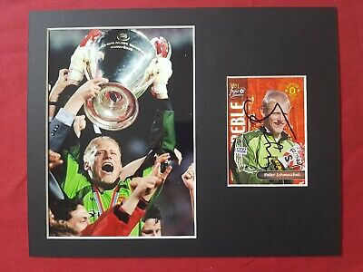 Peter Schmeichel Manchester United Genuine Hand Signed 10x8 Photo Display • 20£