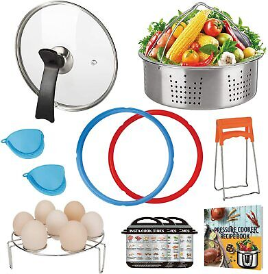 $16.99 • Buy Accessories Set Compatible With Instant Pot 6 QT, With Tempered Glass Lid Rings