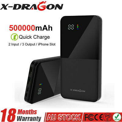 AU35.99 • Buy 500000mAh Portable Power Bank Charger With LCD 2USB External Battery Pack AU