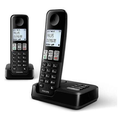 Philips Cordless Landline Phone With Caller ID Answering Machine - Two Handsets • 52.95£