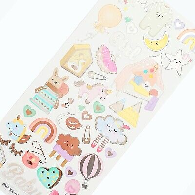 GIRL STICKERS Baby/Kids Craft Birthday Card Scrapbook Decorating Embellishments • 2.79£