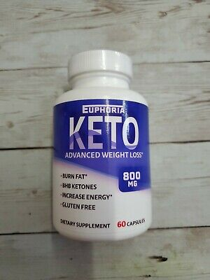 $7.50 • Buy Euphoria Keto Advanced Weight Loss Supplement, 800mg, 60 Caps, Exp 10/21, M5a
