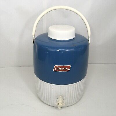 $29.99 • Buy Vintage Sept 1976 Coleman Blue 2 Gallon WATER JUG COOLER + Insert Cup CLEAN!!