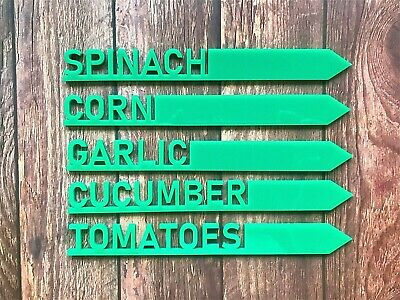 Plant Stakes Acrylic Garden Markers Plant Pot Herb Vegetable Marker Label Stakes • 2.48£