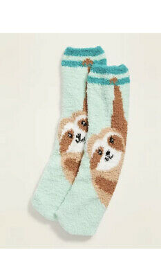 $5 • Buy Old Navy Women's Sloth Cozy Socks 🦥 Fluffy Fuzzy New With Tags Cute Print