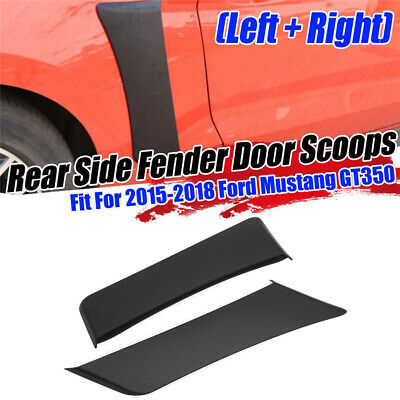 $ CDN74.40 • Buy Rear Fender Penal Flare Side Scoops Vents For 2015-2020 Ford Mustang GT Style
