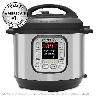 $93.58 • Buy Pressure Cooker Instant Pot DUO60 6-Quart 7-in-1 Multi-Use 14 Smart Programs