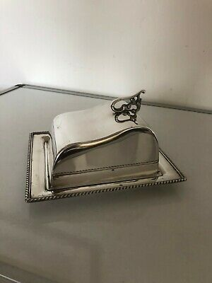 Silver Plated Butter/cheese Dish With A Glass Base Inside • 24.99£