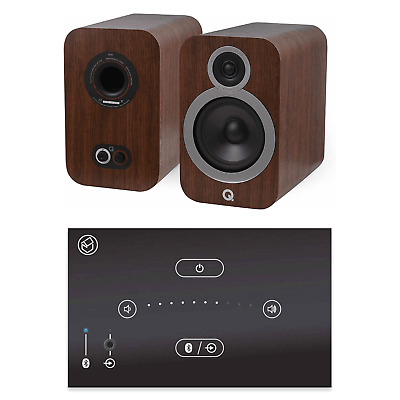 Home Music System With Black Systemline E50 & Q Acoustics 3030i Speakers - Brown • 528£