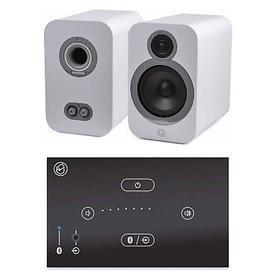 Home Music System With Black Systemline E50 & Q Acoustics 3030i Speakers - White • 528£