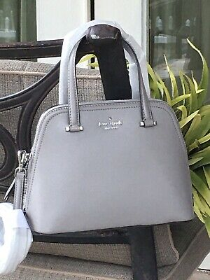 $ CDN131.51 • Buy Kate Spade Patterson Drive Small Dome Satchel Crossbody Bag Taupe Grey Leather