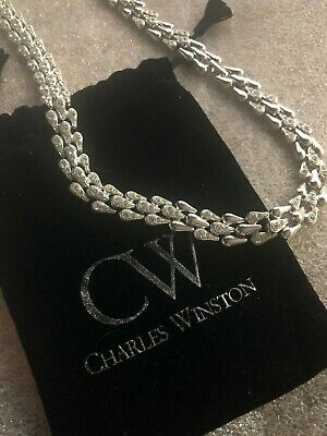 $40 • Buy Charles Winston Sterling CZ Necklace ~Bridal